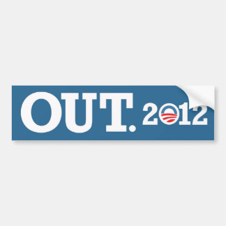 OUT. 2012 Bumper Sticker