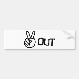 Out Car Bumper Sticker