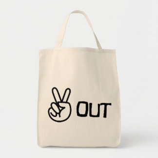 Out Grocery Tote Bag