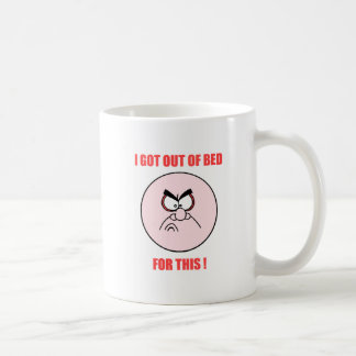 out of bed coffee mug