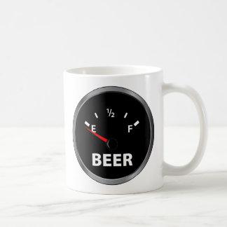 Out of Beer Fuel Gauge Basic White Mug