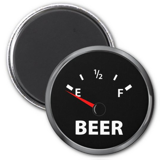 Out of Beer Fuel Gauge Magnet