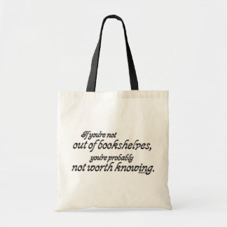 Out of Bookshelves Budget Tote Bag