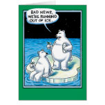 Out Of Ice Funny Card