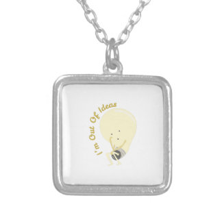 Out Of Ideas Square Pendant Necklace