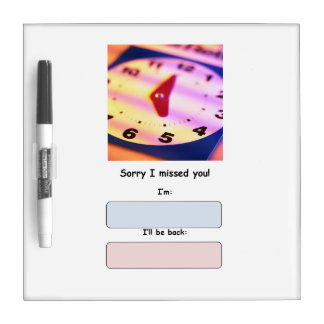 Out of Office Dry Erase Message Board