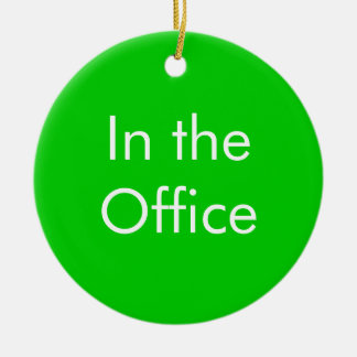 Out of Office / In the Office Sign Ceramic Ornament
