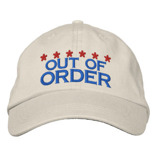OUT OF ORDER EMBROIDERED HAT