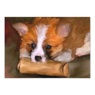 Out of Paper Corgi Dog 5x7 Mini Prints 13 Cm X 18 Cm Invitation Card