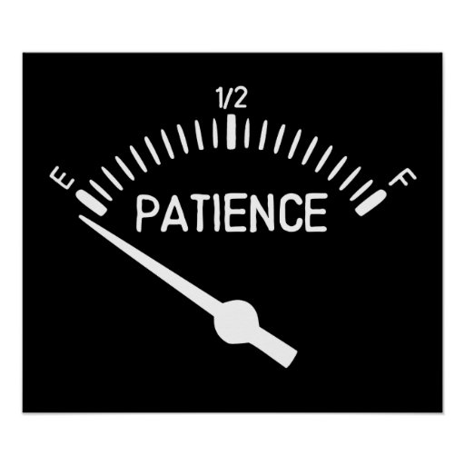 Out of Patience Gas Gauge Poster