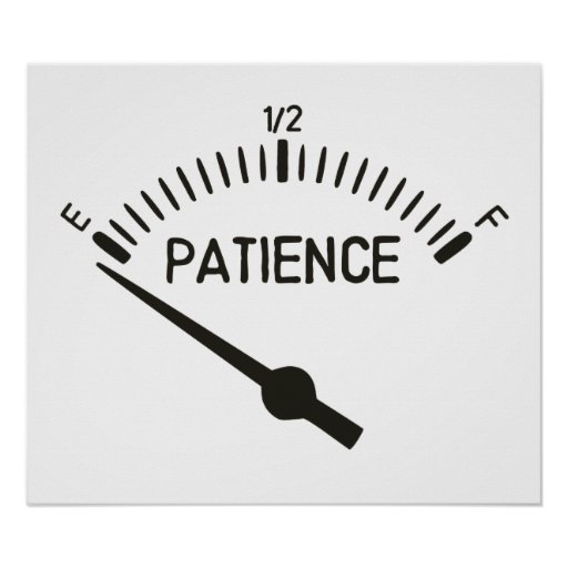 Out of Patience Gas Gauge Print