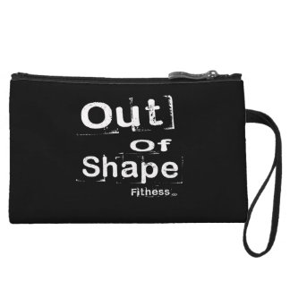 Out of Shape Fitness Clutch Wristlet Purses