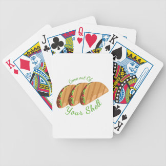 Out Of Shell Bicycle Playing Cards