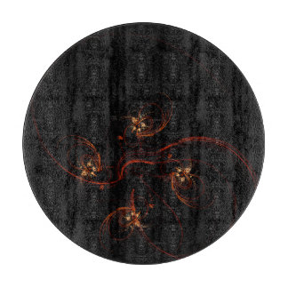Out of the Dark Abstract Art Circle Cutting Board