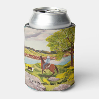 Out of the West Painting custom Can Cooler