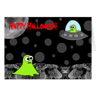 Out of this World Alien Happy Halloween Card