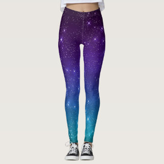 Out of this world Celestial Purple Ombre Leggings