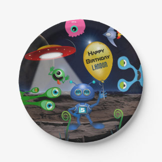 Out Of This World Personalized Birthday Paper Plate