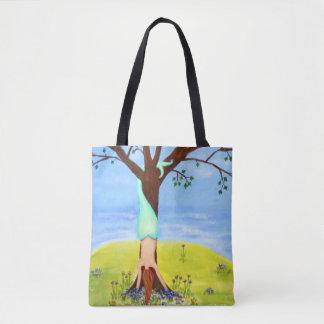 Out Of Water Mermaid Art Tote Bag
