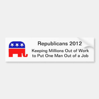 Out of Work Bumper Sticker