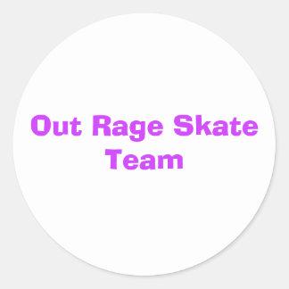 out rage skate team sticker