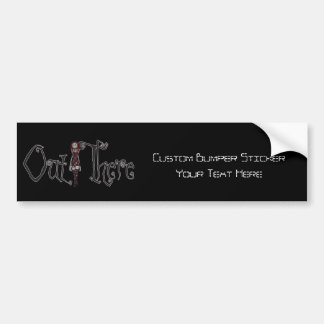 Out There - 3D Freaky Bonga Doll - Redhead Bumper Sticker
