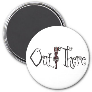 Out There - 3D Freaky Bonga Doll - Redhead 7.5 Cm Round Magnet
