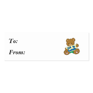 Out to Lunch Teddy Bear Business Cards