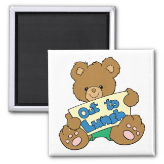 Out to Lunch Teddy Bear Fridge Magnets