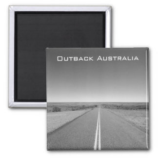 Outback Australia Road in Black and White - Magnet