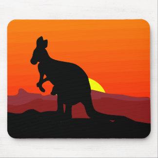 Outback Australian Kangaroo at Sunset Mouse Pads