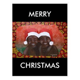 Outback Boys Merry Christmas Postcard