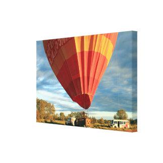 Outback hot air balloon, Australia Canvas Print