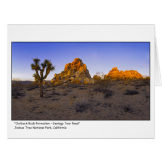 """"""" Outback Rock Formation - Geology Tour Road """" Card"""