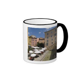 Outdoor café, Place de l'Eveche, Grasse, Ringer Mug