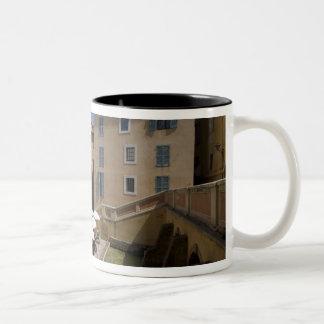 Outdoor café, Place de l'Eveche, Grasse, Two-Tone Mug