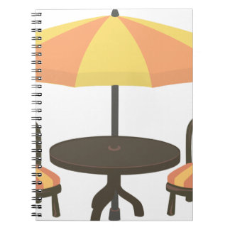 Outdoor Cafe Seating Notebooks