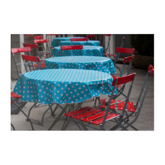 Outdoor Cafe Tables Acrylic Print