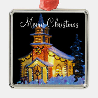 Outdoor Christmas Ornaments With Christmas Church