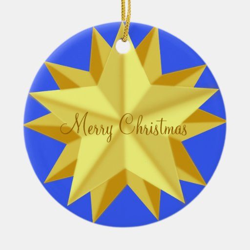 Outdoor Christmas Ornaments With Golden Star
