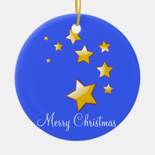 Outdoor Christmas Ornaments With Golden Stars