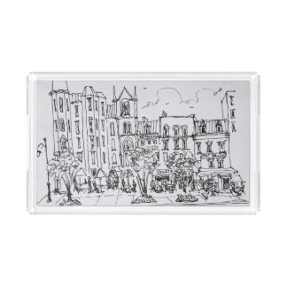 Outdoor Dining along Indiana St. | Washington DC Acrylic Tray