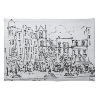 Outdoor Dining along Indiana St. | Washington DC Placemat