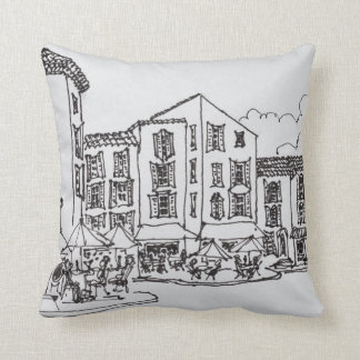 Outdoor Dining | Gordes, South of France Cushion
