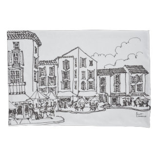 Outdoor Dining   Gordes, South of France Pillowcase