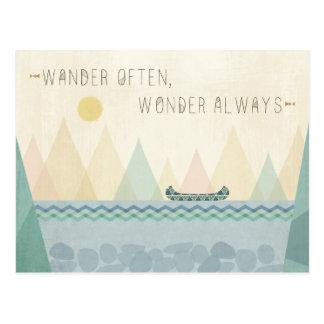 Outdoor Geo I | Wander Often, Wonder Often Postcard