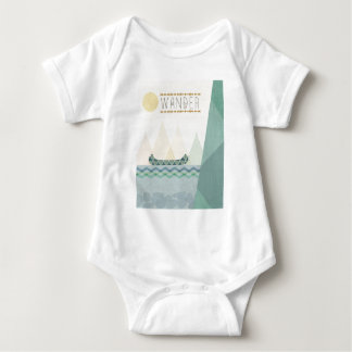 Outdoor Geo III   Wander Baby Bodysuit