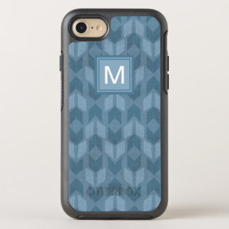 Outdoor Geo Step | Blue Arrow Pattern OtterBox Symmetry iPhone 8/7 Case