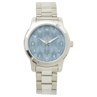 Outdoor Geo Step | Blue Arrow Pattern Watch