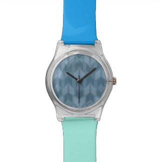 Outdoor Geo Step   Blue Arrow Pattern Watch